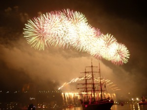 Fireworks over the Sydney Harbour Bridge