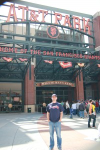 Josh in front of AT&T Park