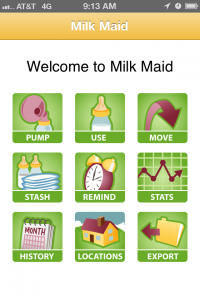 Milk Maid home screen