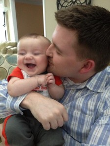 B loves his Daddy!