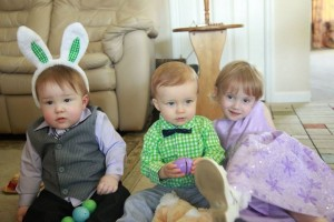 B with his cousins