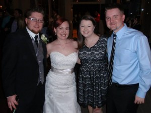With the newlyweds!