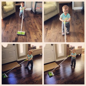 Trying out the Swiffer Sweep & Trap