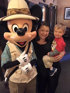 Hanging with Mickey at the Animal Kingdom