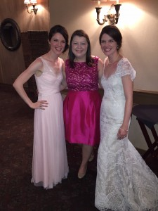With the bride and MOH